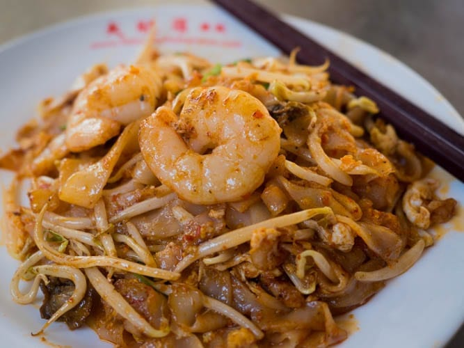 A plate of Char Koay Teow in Penang, Malaysia - A Luxury Malaysia Holiday