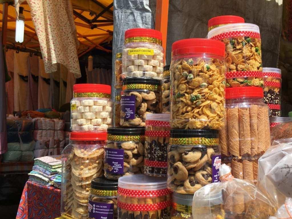 Traditional Ramadan cookies at the Ramadan market in Kuala Lumpur