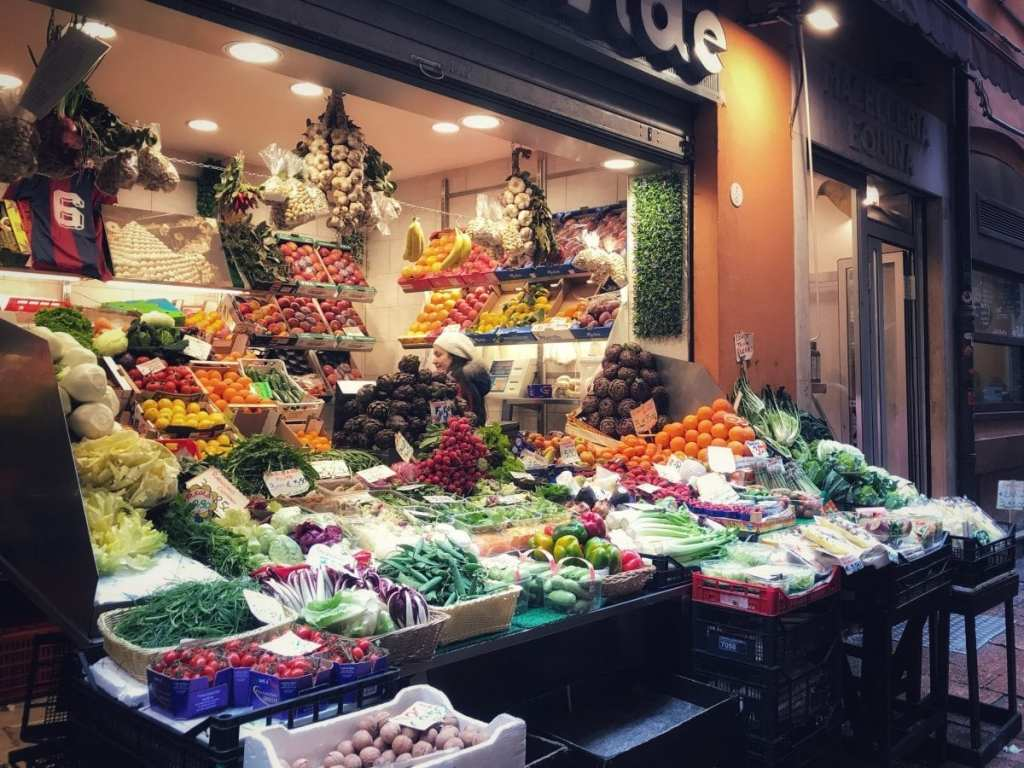 Discovering Delicious Bologna - A Typical Fruit and Vegetable Stall in Bologna