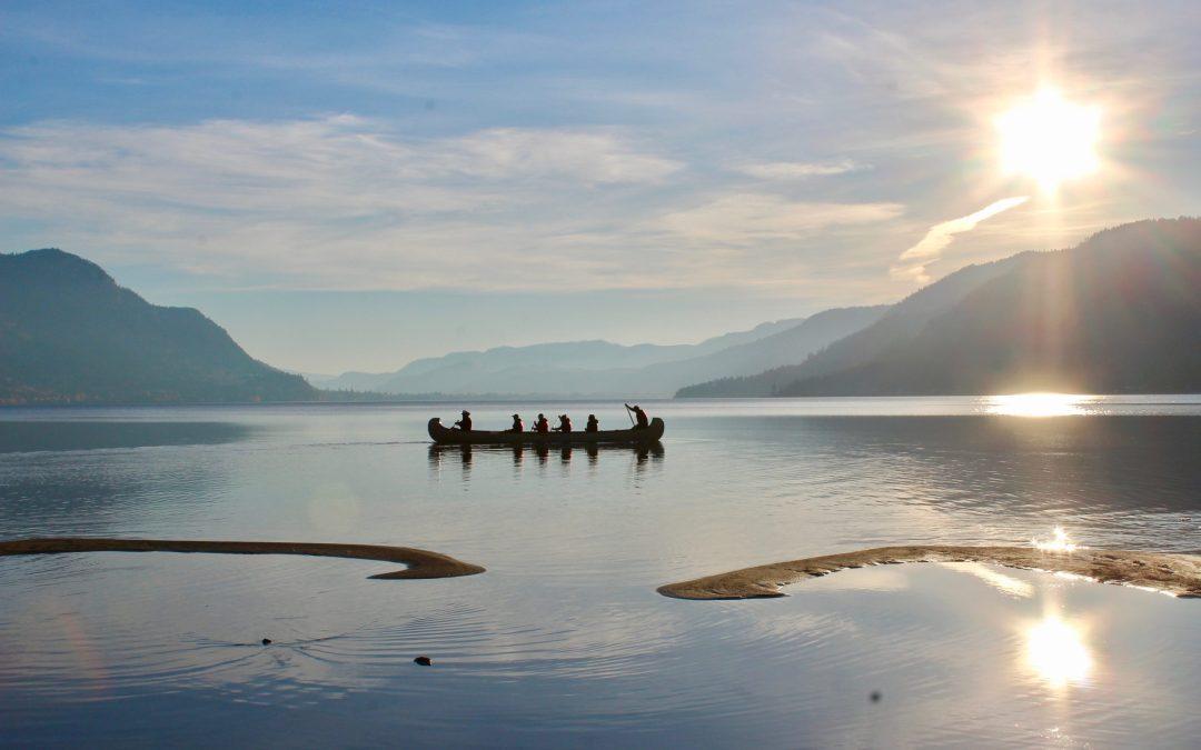 Canoe in Shushwap Lake