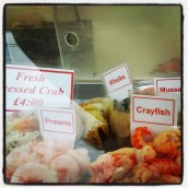 seafood stall Blakeney Point