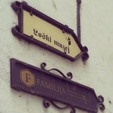 Street signs Skofja Loka