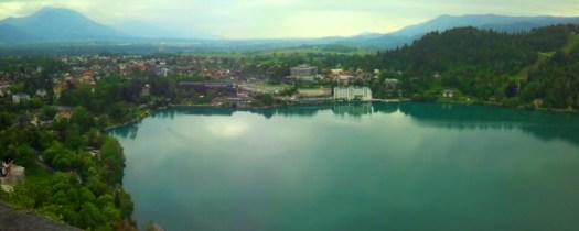 lake bled panoramic view