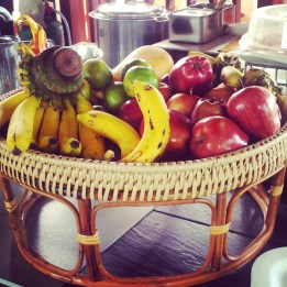 fresh fruit breakfast buffet Crown Lanta Hotel Spa