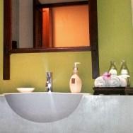 hotel room bathroom Crown Lanta Resort