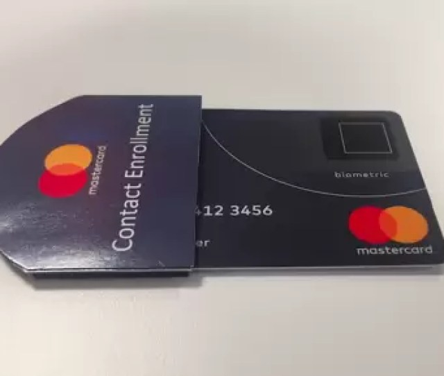 The Newly Developed Sleeve From Mastercard Which Allows Fingerprints To Be Registered To A Biometric Bank Card From Any Location