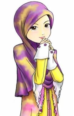 Gambar Kartun Sedih : gambar, kartun, sedih, Kartun, Muslimah, 800x1051, Download, Wallpaper, WallpaperTip