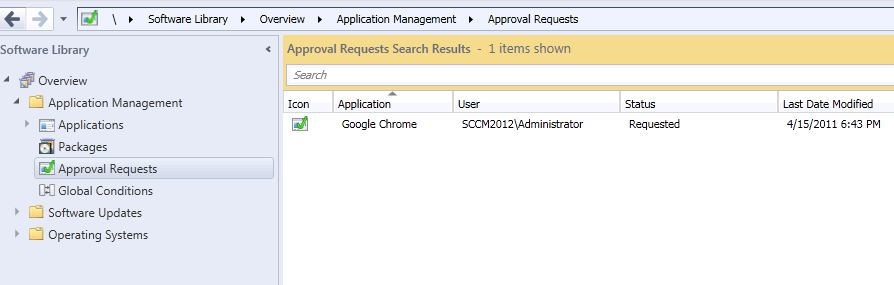 SCCM 2012 Software request