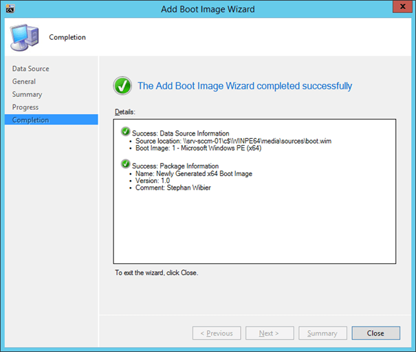 Re)-Creating a boot image for ConfigMgr 2012 using Windows ADK