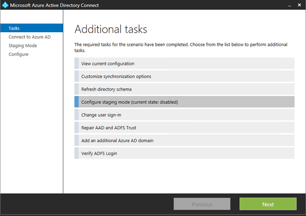 Azure Active Directory Connect - High Availability
