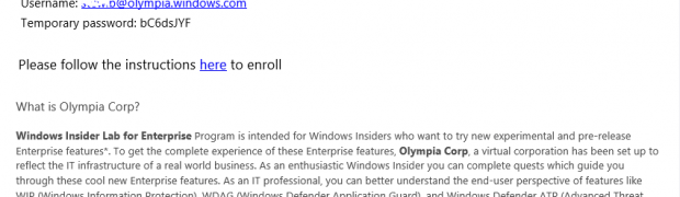 Apply for Olympia corp. #WindowsInsiders