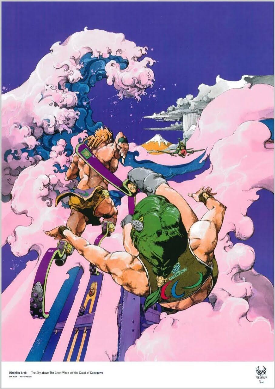Hirohiko Araki Memasukan Referensi JoJo Ke Dalam Poster Paralympic Games Karyanya 2