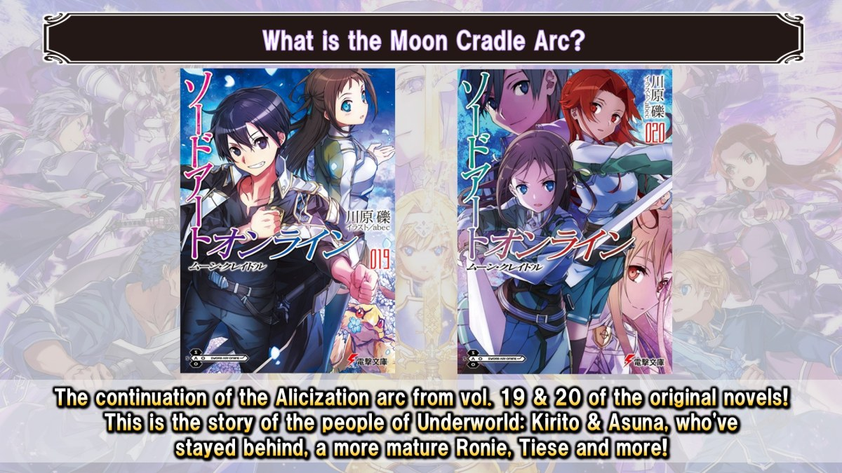 Sword Art Online Arc Moon Cradle Akan Dirilis Ceritanya Lewat Game Sword Art Online Alicization Rising Steel 3