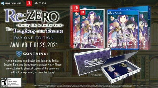 Trailer Baru untuk Game Re:ZERO - Starting Life in Another World: The Prophecy of the Throne Ungkap Tanggal Peluncuran Game-nya di Amerika Utara dan Eropa 8