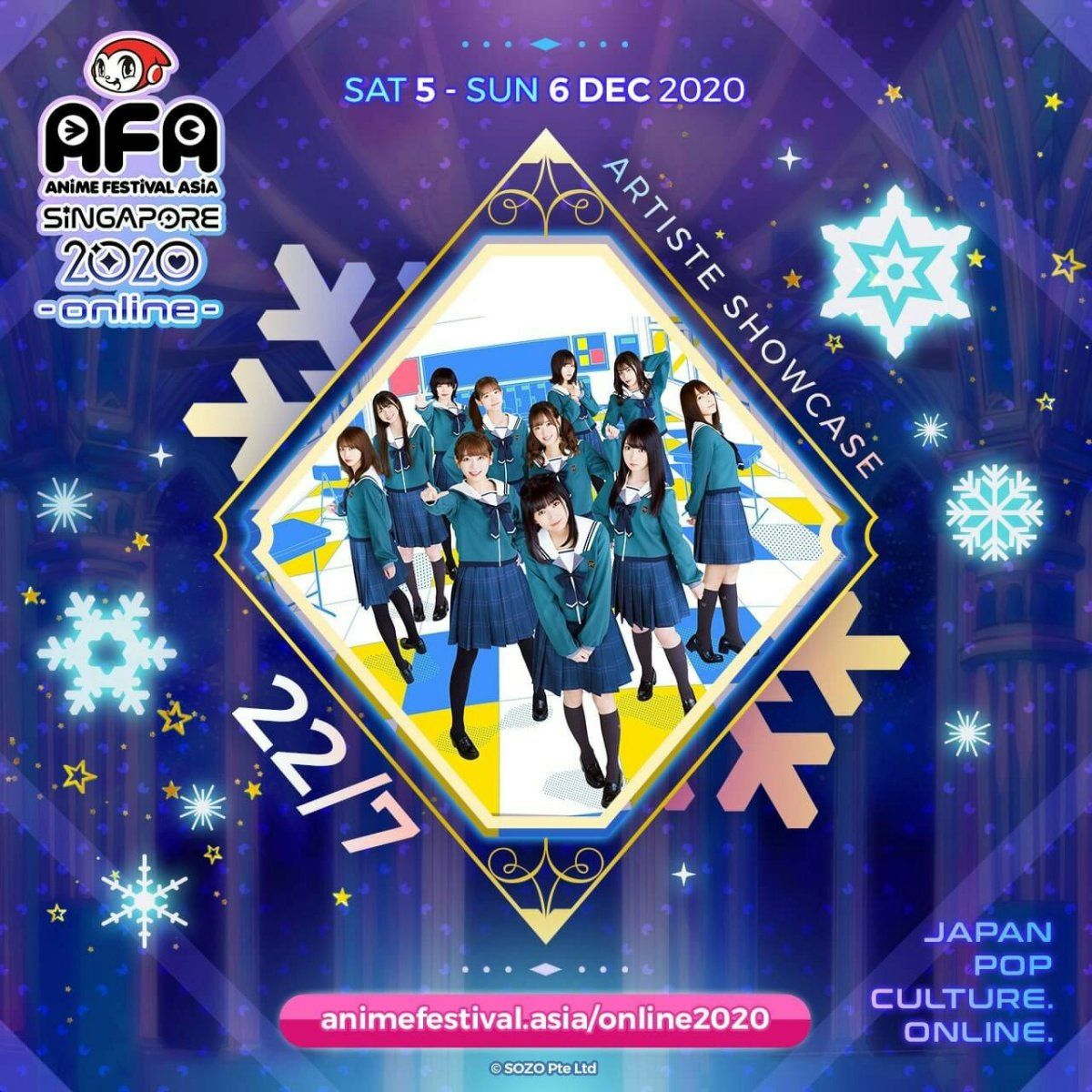 Japan Idol Group 22/7, Moona Hoshinova, Ayaka Ohashi, dan Lebih Banyak Lagi Musisi & Idol Favorit Tampil di Stage Virtual AFA! 3