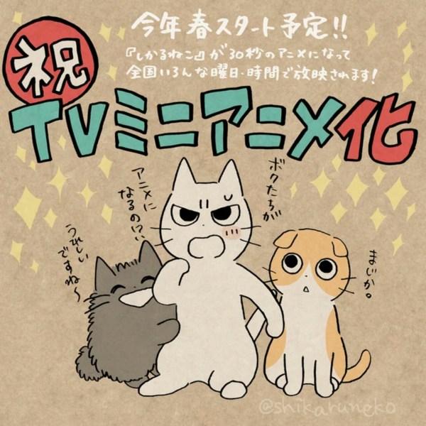 Karakter Shikaruneko Dapatkan Anime Mini untuk Musim Semi Tahun Ini 1