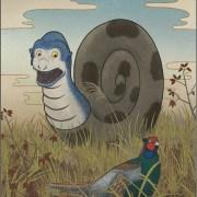 Kijikui, Youkai seperti Siput Besar yang Memangsa Burung Pegar 14