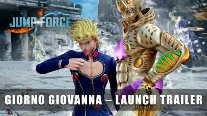 Trailer DLC Game Jump Force Mengungkapkan Peluncuran Giorno pada 13 April 1