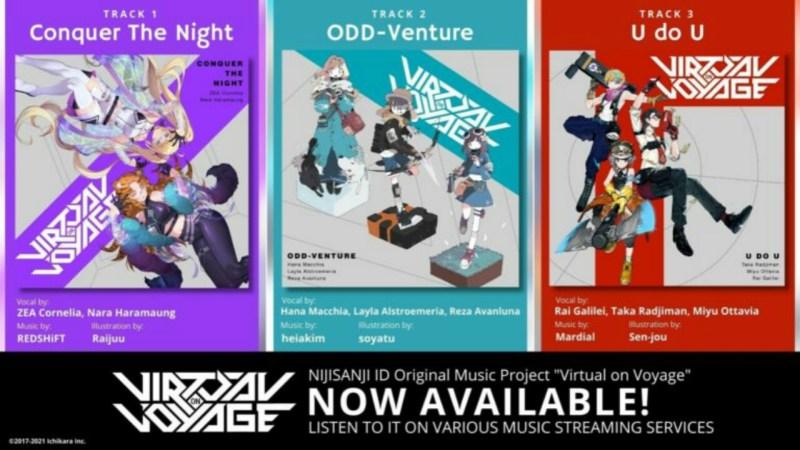 """NIJISANJI ID Merilis Tiga Lagu Baru dalam Proyek """"Virtual on Voyage"""" 1"""