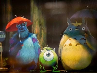 Twitter Studio Ghibli Mengepos Gambar Crossover Monsters Inc. & My Neighbor Totoro 1