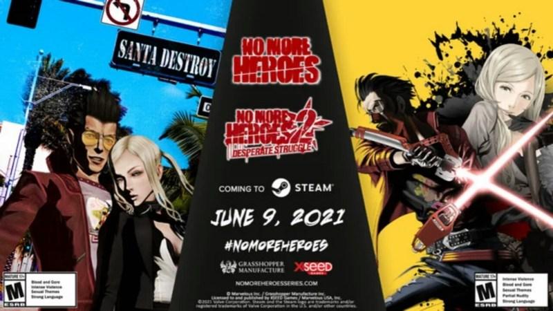 Game No More Heroes dan No More Heroes 2 Akan Dirilis untuk PC via Steam pada Tanggal 9 Juni 1