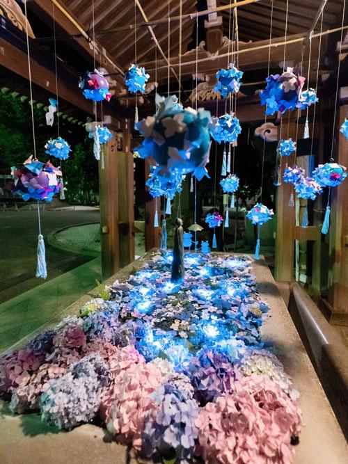 Tangkapan Foto Night Hydrangea yang Diambil Yukari Mitani 4