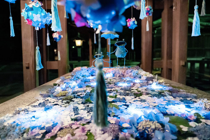 Tangkapan Foto Night Hydrangea yang Diambil Yukari Mitani 2