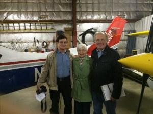Capt Kent Aschenbrenner, Henrietta Bartel, and her son David B. Bartel.