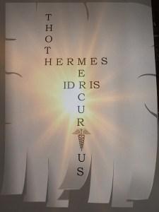 Illustratie met de namen Thoth, Hermes, Mercurius en Idris