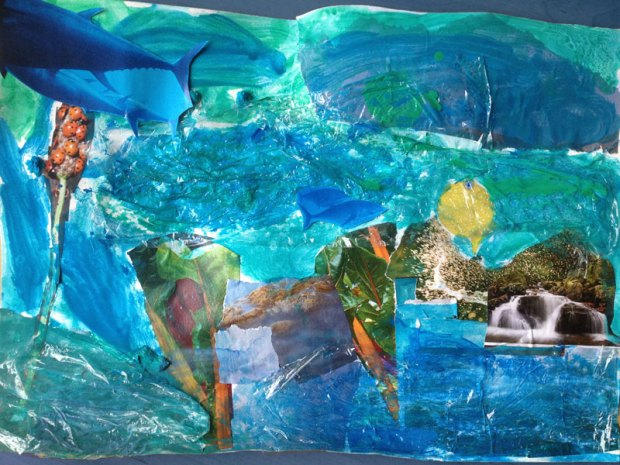 Water-collage (foto: Melusine)