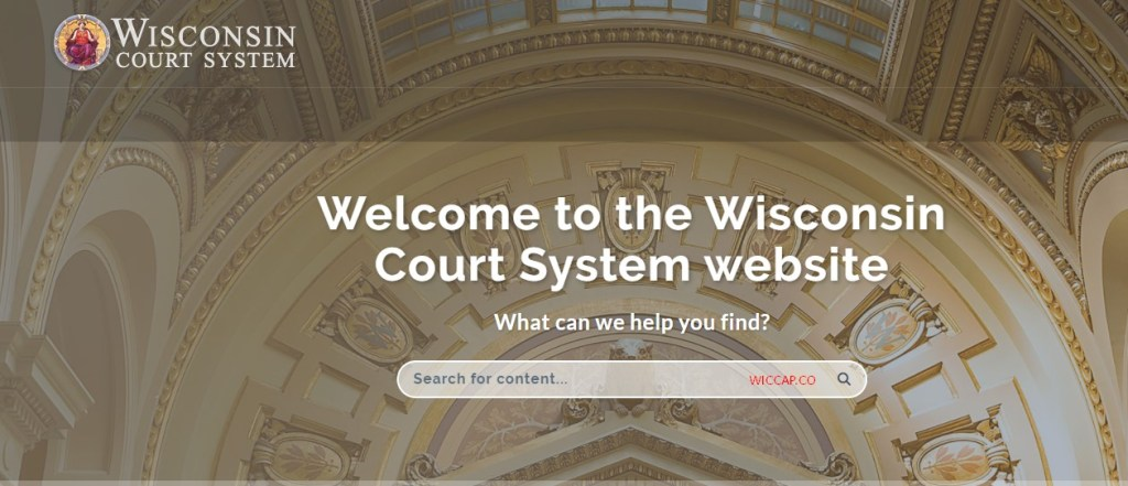Wisconsin CCAP circuit court Case search
