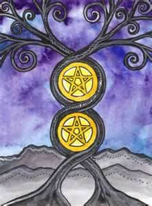 2 coins Tarot of Trees