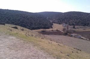 Monte donde se halla el santuario visto desde Segóbriga