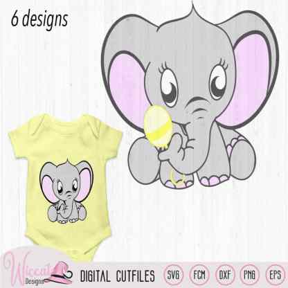 Elephant bundle, neutral, boy, girl svg
