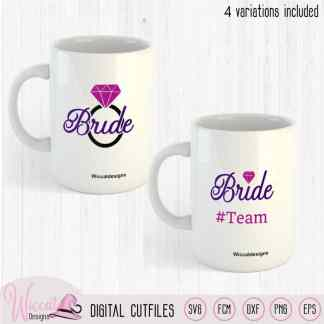 Team Bride, Bride to be svg