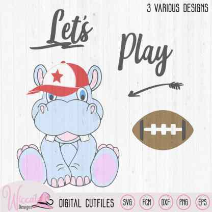 Football Hippo svg, Baseball svg, Soccer