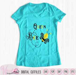 Queen bee svg, girl bee svg,