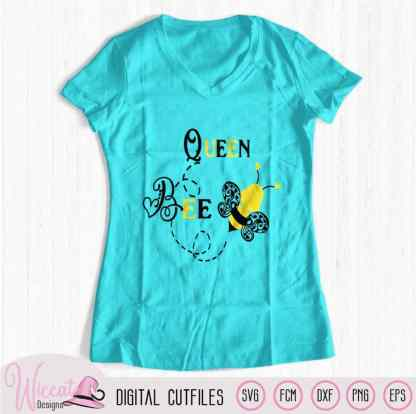 Queen bee svg, Bumblebee svg, Bee svg, girl svg, kids svg, mom shirt svg, mother baby svg, holiday shirt, svg cricut, scanncut fcm file