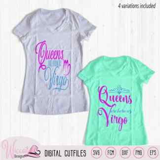 Virgo Queen svg, Zodiac svg, born in september