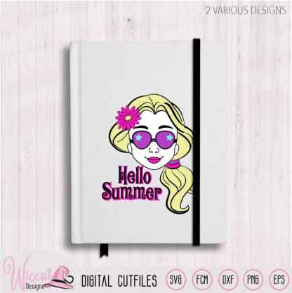 Cool Summer girl with Sun glasses