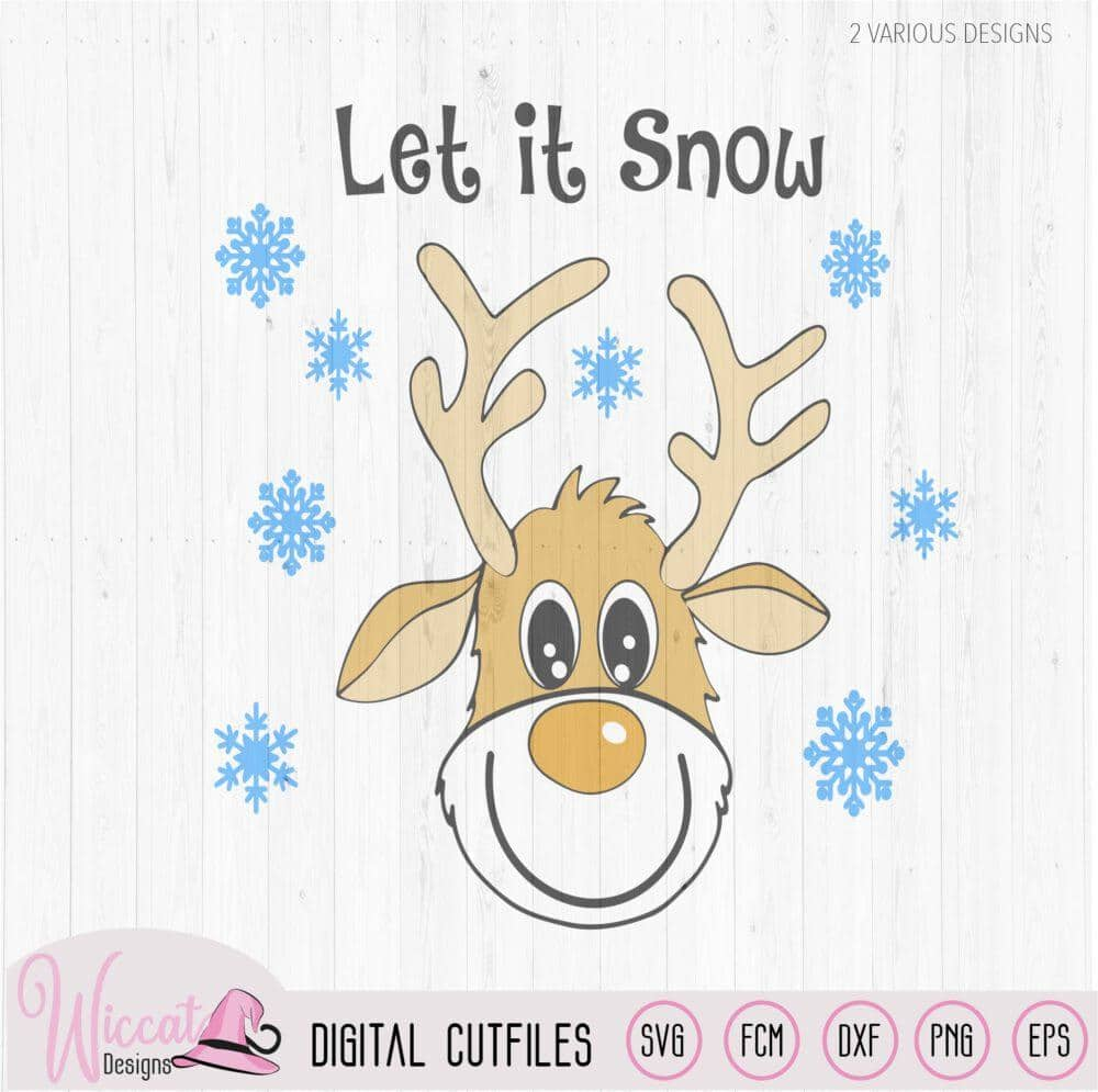 Funny Reindeer Svg Deer Svg Christmas Sweater Wiccat Designs