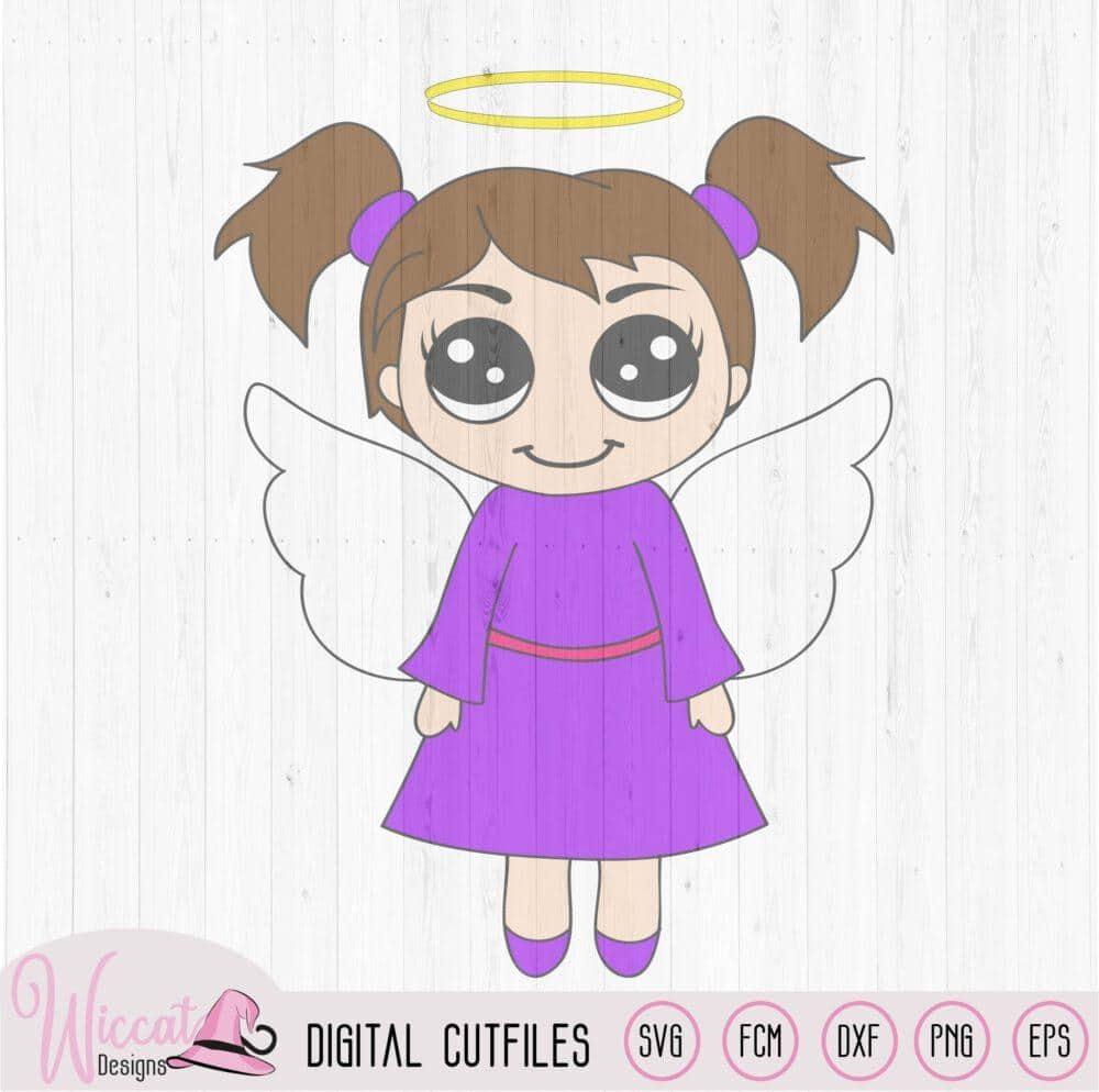 Christmas Angel Kawaii Angel Wiccat Designs