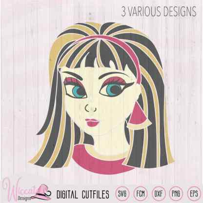 Cleopatra svg, girl svg, Egyptian goddess, egypt svg, line art svg, Girl portrait, t shirt design, vinyl craft, cricut svg, scanncut fcm,