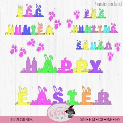 Egg Hunting squad, Egg hunter, Easter font