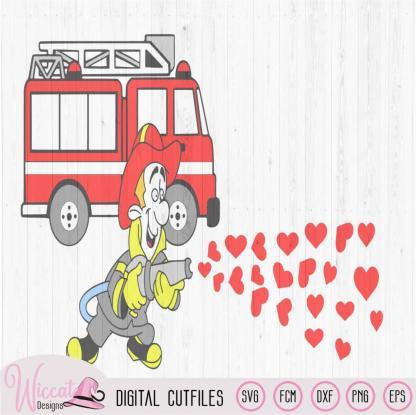 Firefighter couple shirt