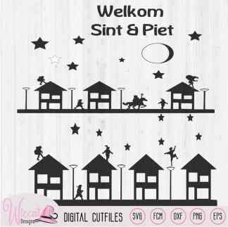 Sinterklaas Raamsticker cut file SVG, dxf, FCM, JPEG and png