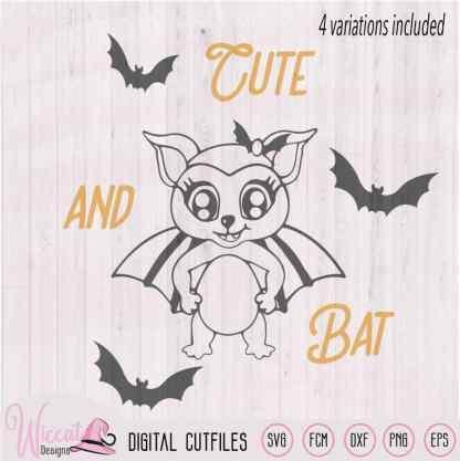 Girly bat halloween, Trick or treat svg, kids svg, scanncut fcm, dxf cut file, cricut svg, funny bat svg, vinyl craft, plotter file,