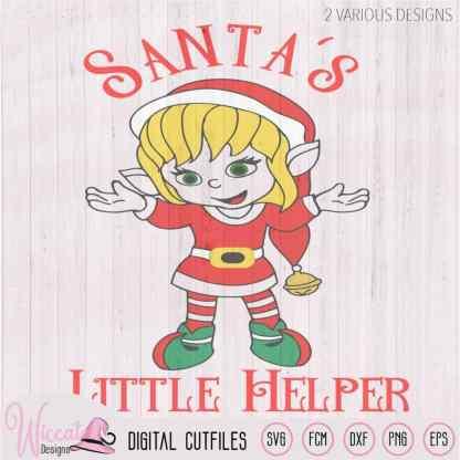 Christmas girl Elves, Santa's little helper
