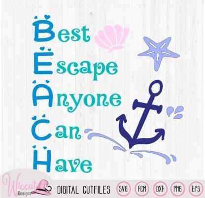 Beach, best place, beach quote svg