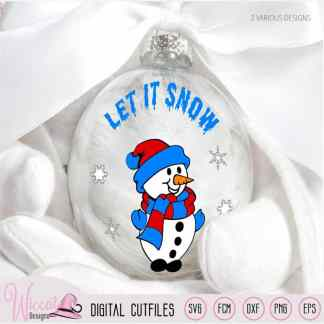 Snowman Let it snow svg, kids svg, cut file svg,